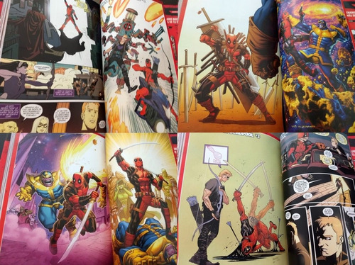 marvel comic deadpool vs marvel 450 paginas latino tapa dura