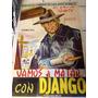 Django Cartel O Poster Original De Cine Espagueti Western