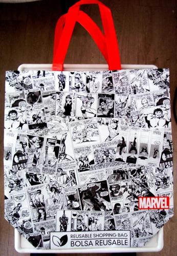 marvel comics bolsas reutilizables reusable bags