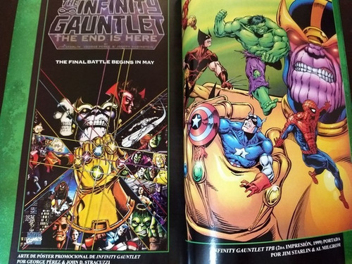 marvel comics infinity gauntlet  tomo latino110000