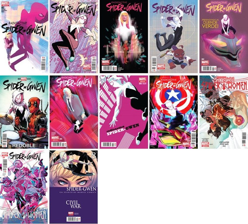 marvel comics spider gwen 2 3 4 5 6 7 8 spider women all new
