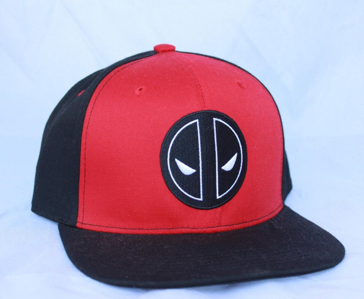 marvel deadpool hombres rojo negro béisbol de snapback gorra. Cargando zoom. b0b7e1b3a60
