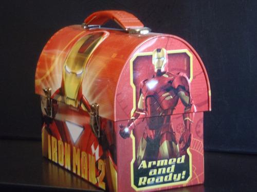 marvel iron man lunchera metalica gran calidad