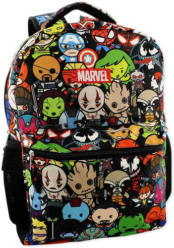 marvel kawaii avengers mochila escolar de 16 pulgadas para n