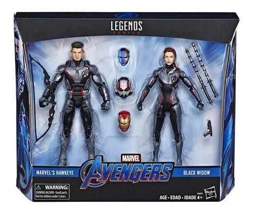 marvel legends 2-pack black widow hawkeye quantum suit