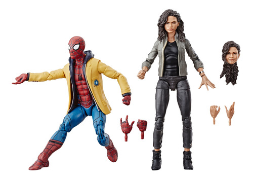 marvel legends 2 pack: spiderman & mary jane