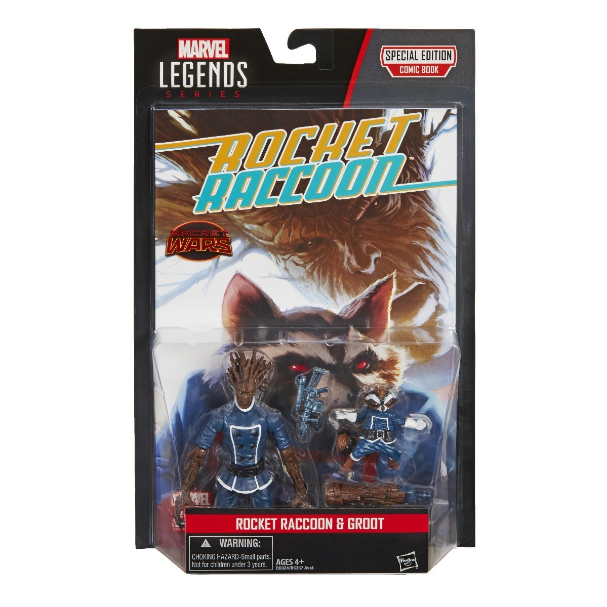 Marvel Legends 3,75 Rocket Raccoon & Groot Comic Book