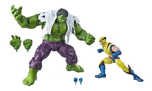 marvel legends 80 years hulk vs. wolverine hasbro