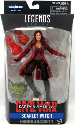 marvel legends civil war bruja escarlata 6'' en stock