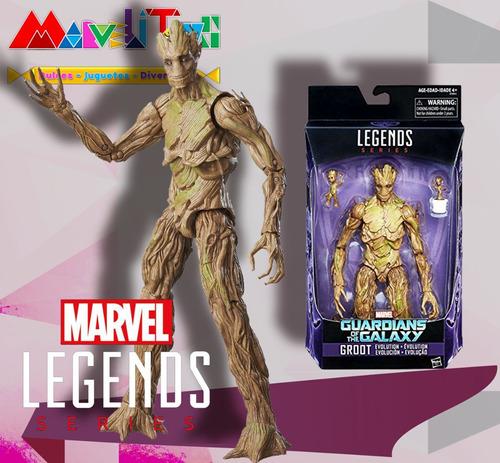 marvel legends groot evolution