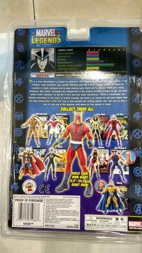 marvel legends havok toy biz serie giant man baf sin baf