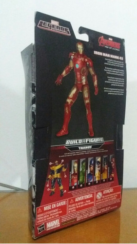 marvel legends iron man, age of ultron ( baf thanos)
