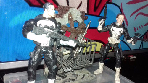 marvel legends jigsaw face off punisher aprox 17 cm
