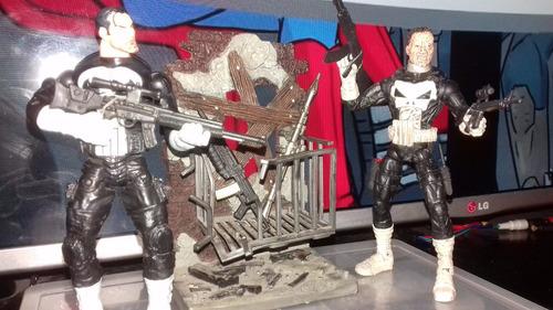 marvel legends jigsaw face off punisher aprox 17 cm