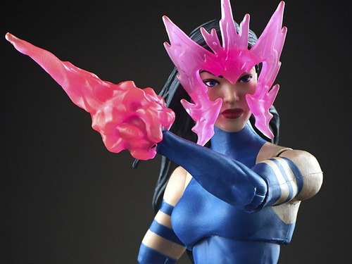 marvel legends psylocke - original e lacrada - boneca