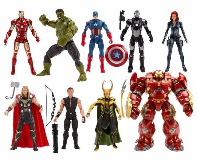 marvel legends serie avengers exclusiva 8 figuras con baf 4 en mercado libre. Black Bedroom Furniture Sets. Home Design Ideas