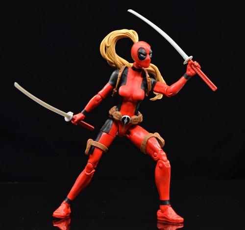 marvel legends series deadpool - lady deadpool - sauron baf