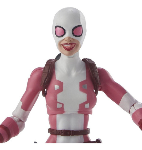 marvel legends spider-man gwenpool - hasbro - robot negro