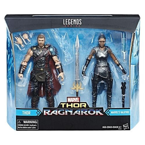 marvel legends thor ragnarok 2 pack thor y marvel's valkyrie