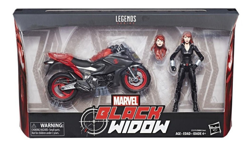 marvel legends - ultimate black widow 2-pack - robot negro