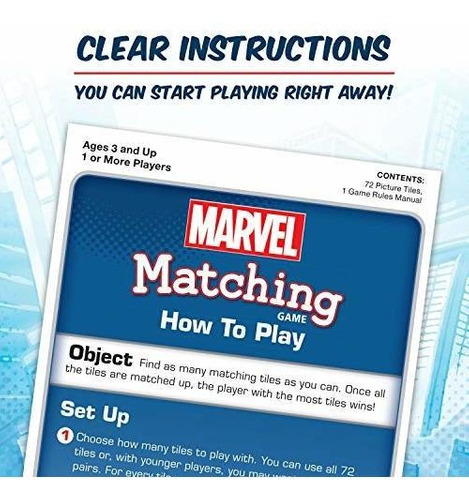 marvel matching game, azul