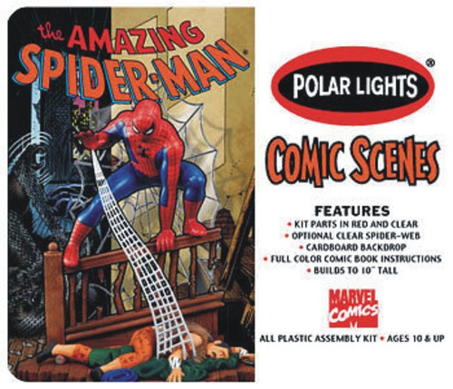 marvel polar lights hombre araña spiderman armar pintar 1/8