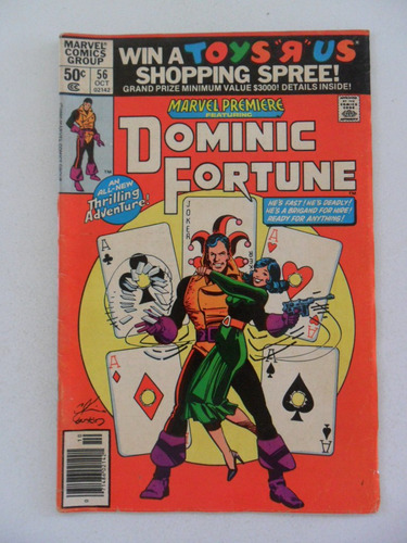 marvel premiere nº 56! dominic fortune! out 1980! em inglês!