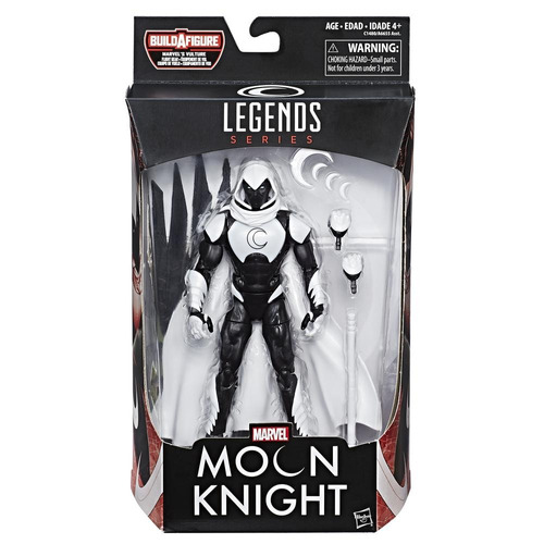 marvel spider-man legends moon knight figura 6 pulgadas