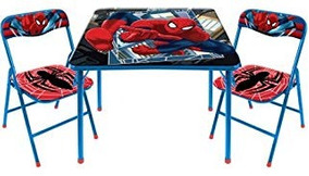 Mesa Marvel Plegable Envío Spiderman 2piece De Gratis Silla OuPkXiTZ