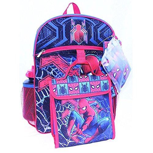 marvel spiderman kids set de mochila escolar de 5 piezas