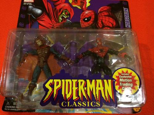 marvel spiderman vs hobgoblin toy biz classics two pack