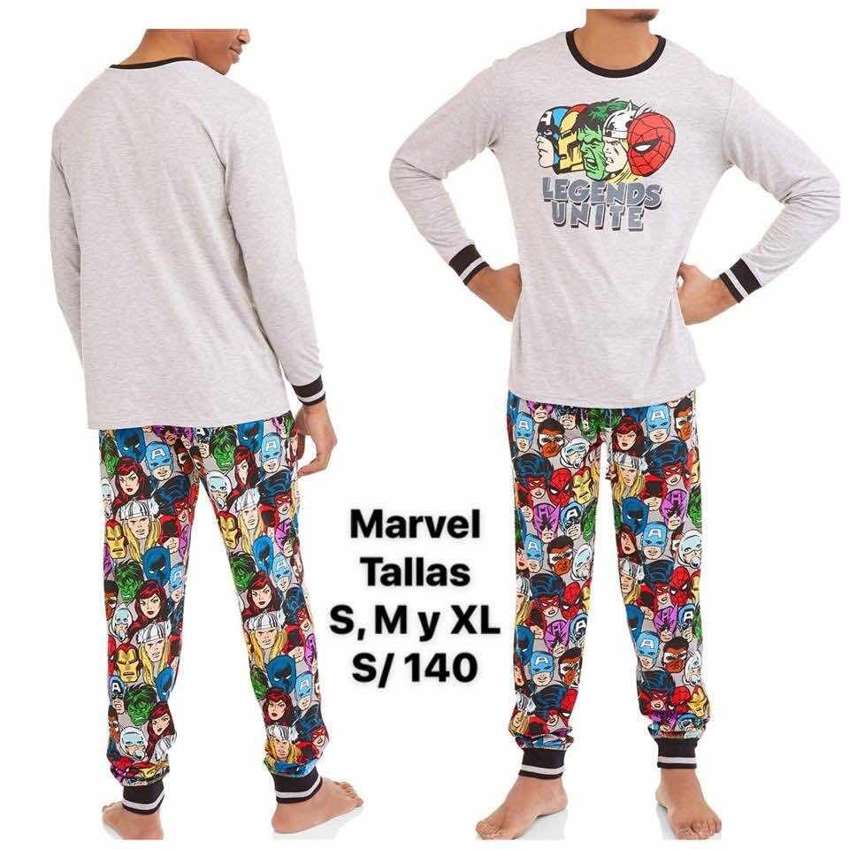 replicas mejor baratas 100% autenticado Marvel Súper Héroes Pijama Algodón Hombre Original Usa
