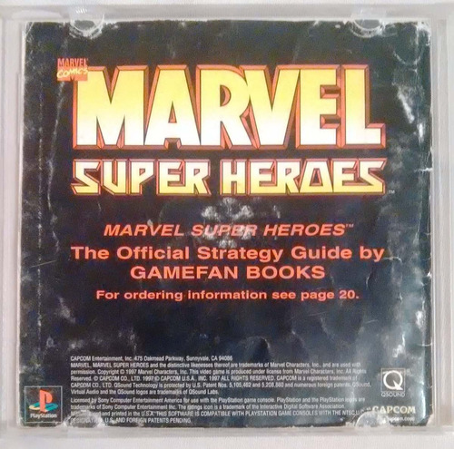 marvel super heroes play station 1 ps1 psone