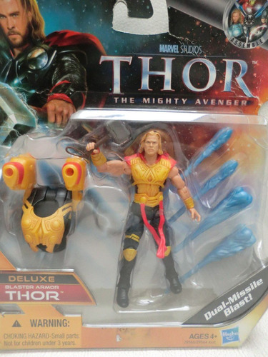 marvel thor mighty avenger - dual missile deluxe - hasbro