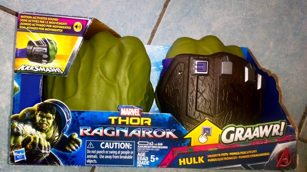 Marvel Hulk Manos Smash FX Puños Guantes Thor Ragnarok Vengadores