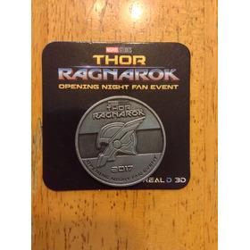 Marvel Thor Ragnarok Moneda Medalla Metalica Real 3d Usa