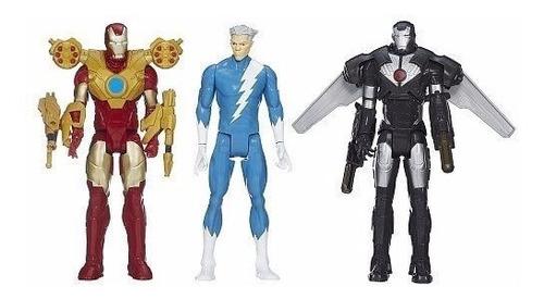 marvel titan hero  - pack iron man quicksilver war machine