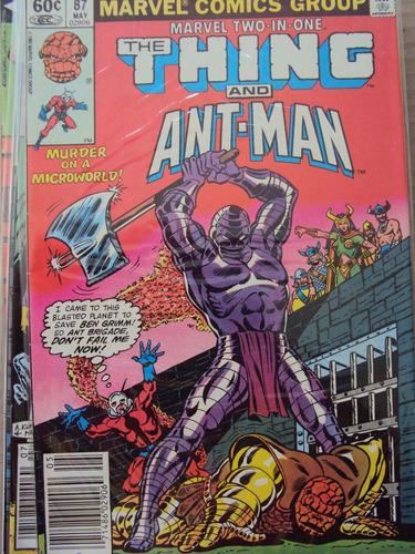 marvel two-in-one # 87 - coisa e homem-formiga - importada