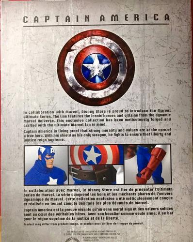 marvel ultimate series capitan america premium figura 11 1/2