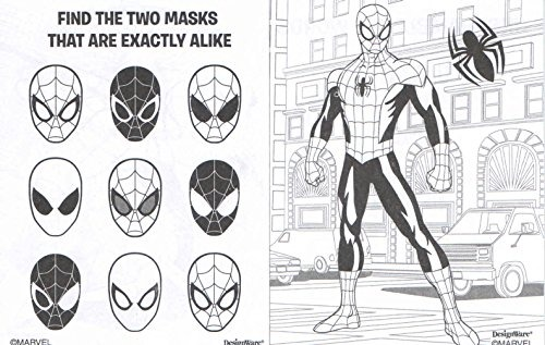 Marvel Ultimate Spiderman Mini Libro Para Colorear Con