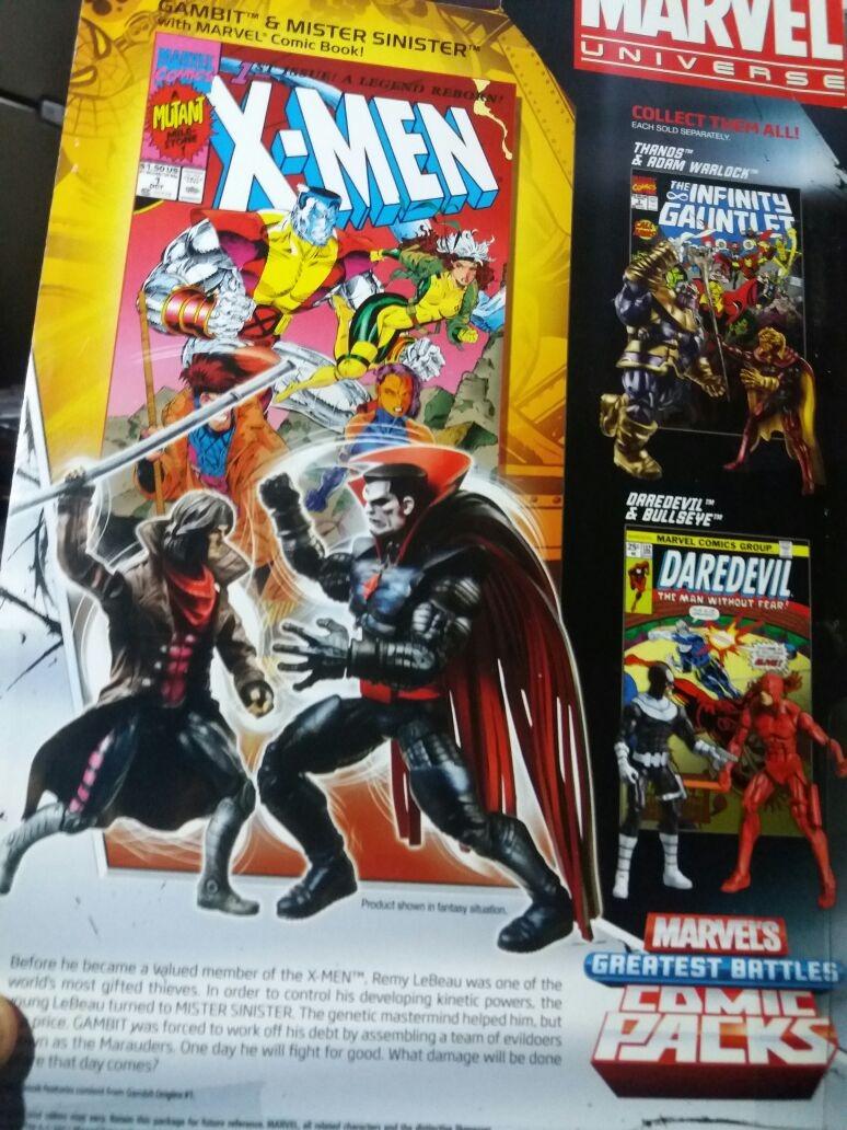 Marvel Universe Gambit E Sr Sinistro