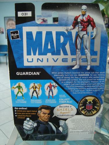 marvel universe guardian nuevo,sellado,serie 3,de coleccion.