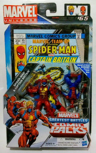 marvel universe spider-man & captain britain comic pack #65