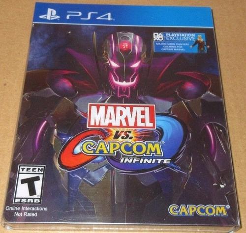 marvel vs capcom infinite ps4 caja de metal sellado garantia