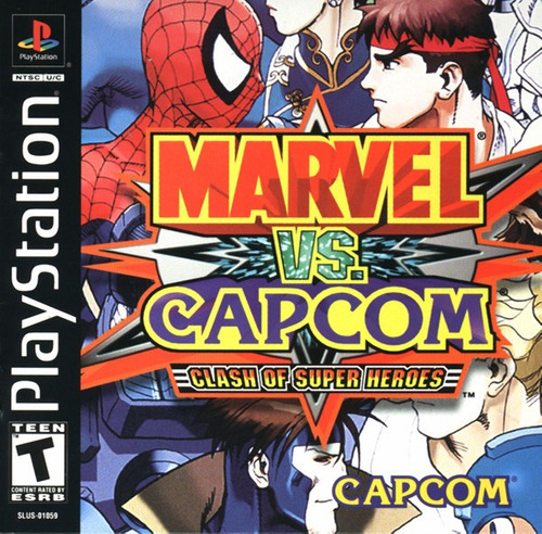 marvel vs capcom - playstation 1 - psx -