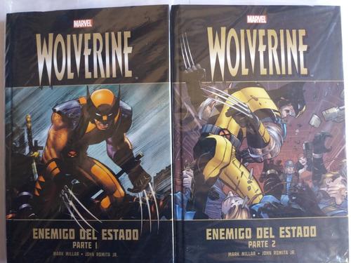 marvel, wolverine, enemigo de estado 1 y 2(nuevo sellado).