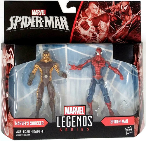 marvel's shocker vs spider-man marvel legends 3.75
