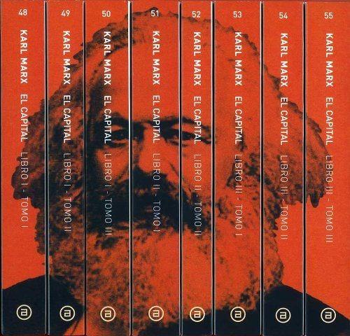 marx - el capital . obra completa - 8 tomos en caja akal