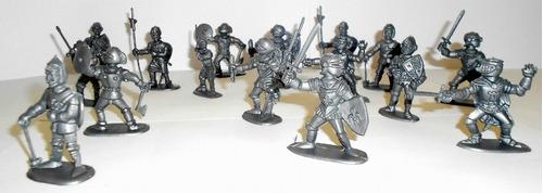 marx plastimarx 60mm 16pz comics templarios y medievales pm0