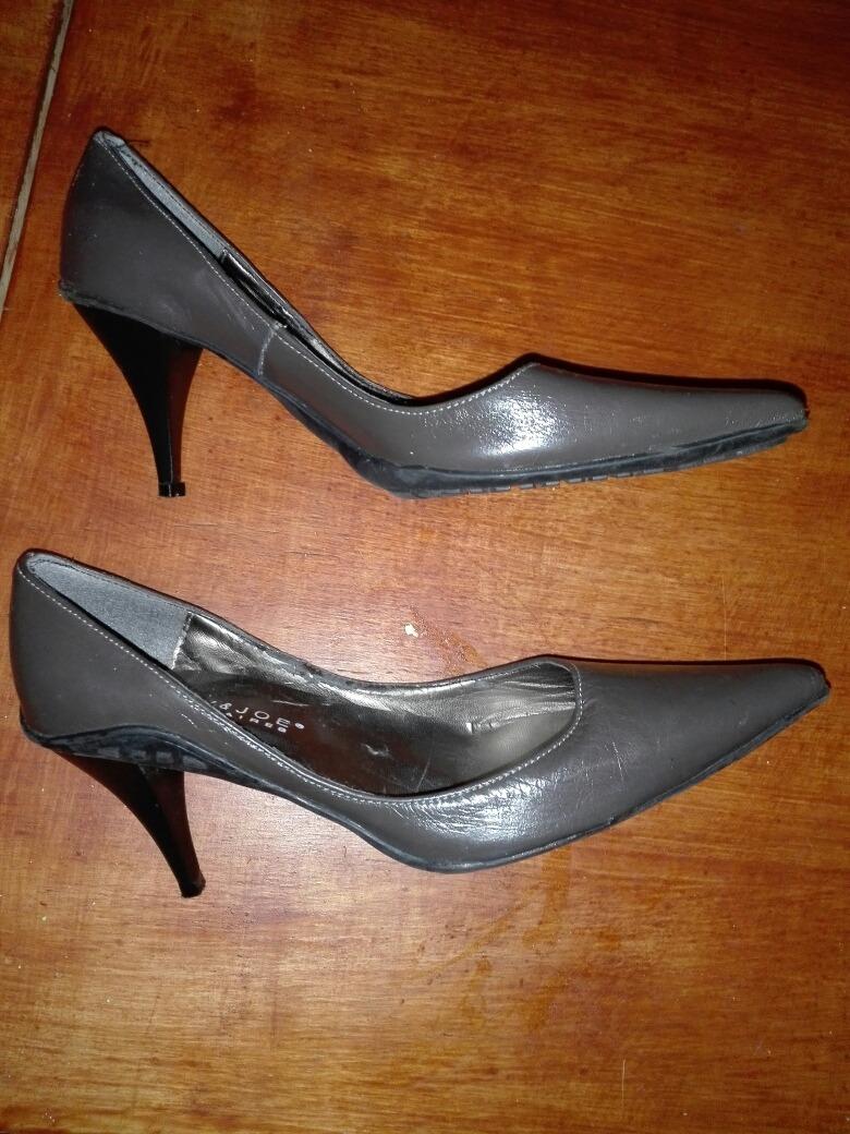 14d7a586 Mary & Joe : Zapatos Stilettos Taco Alto Grises T.36!!! - $ 200,00 ...